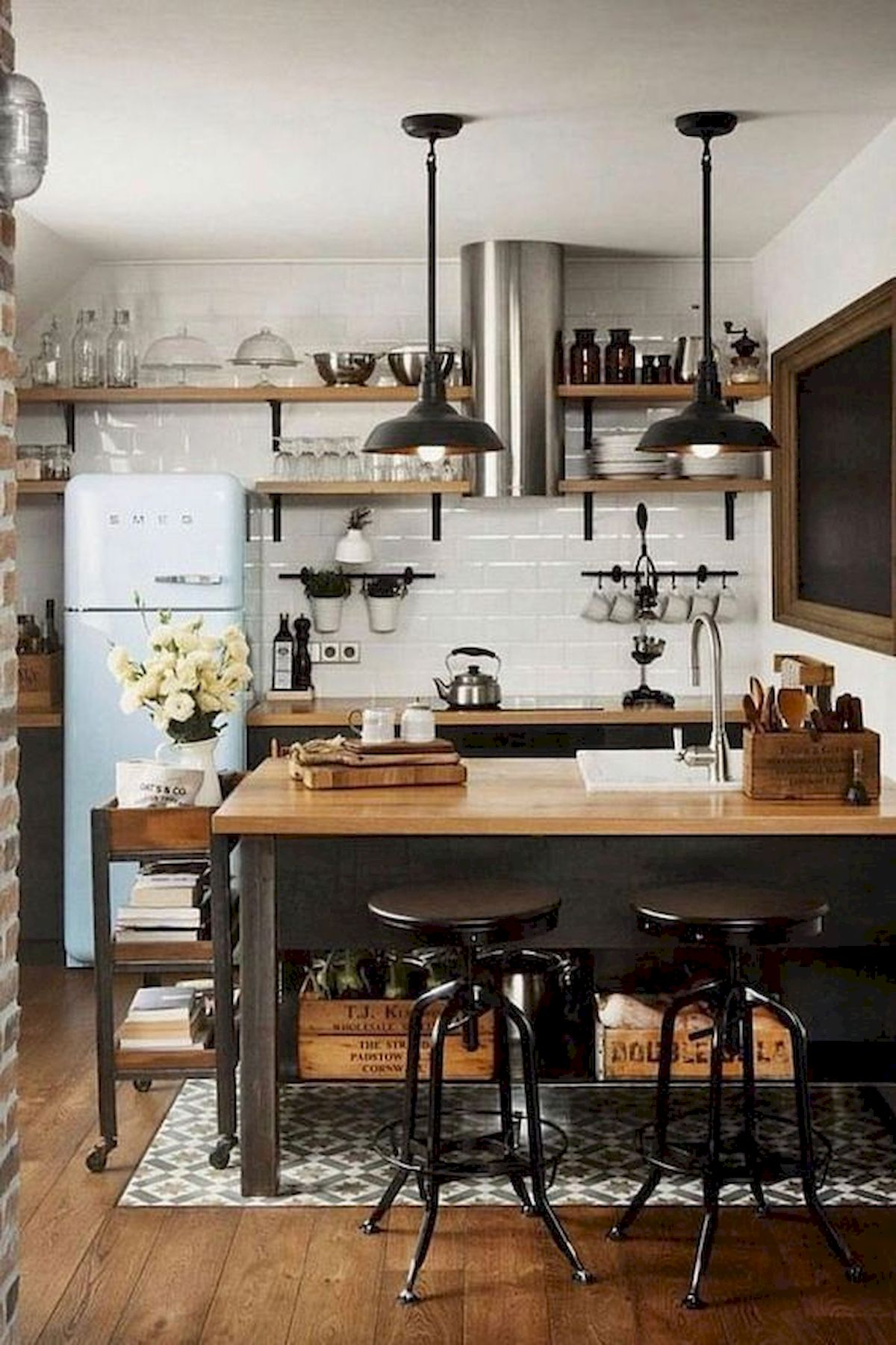 30 Awesome Small Apartment Design and Decor Ideas With Farmhouse Styles (7)