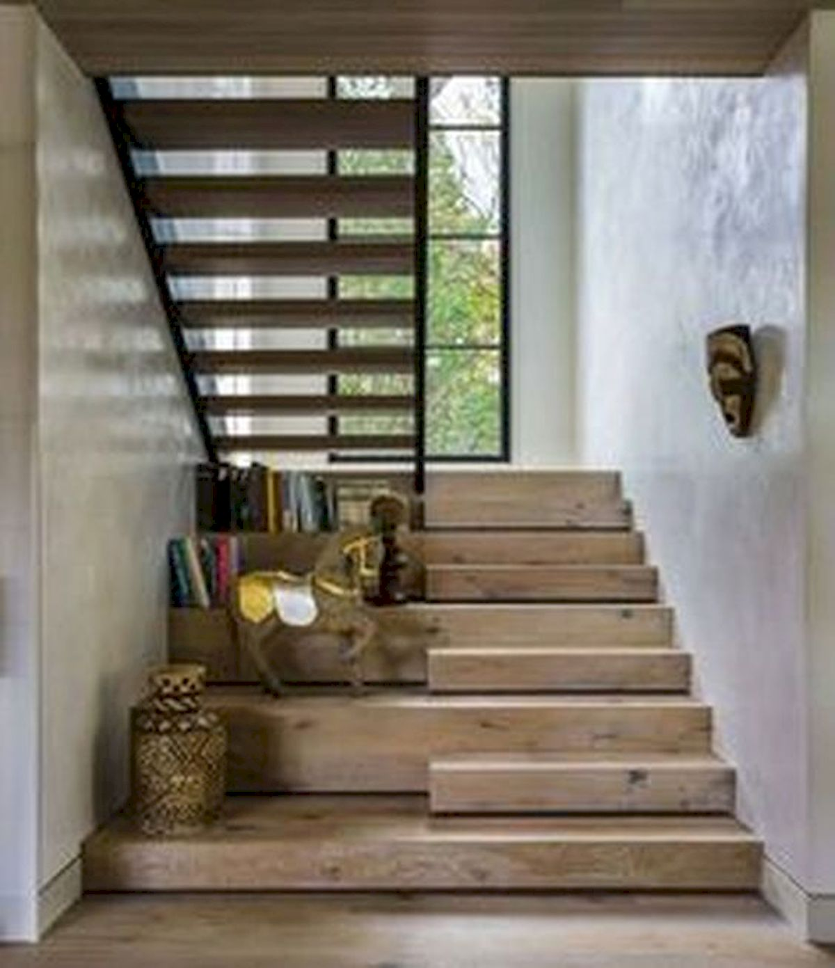 30 Awesome Wooden Stairs Design Ideas For Your Home (18)