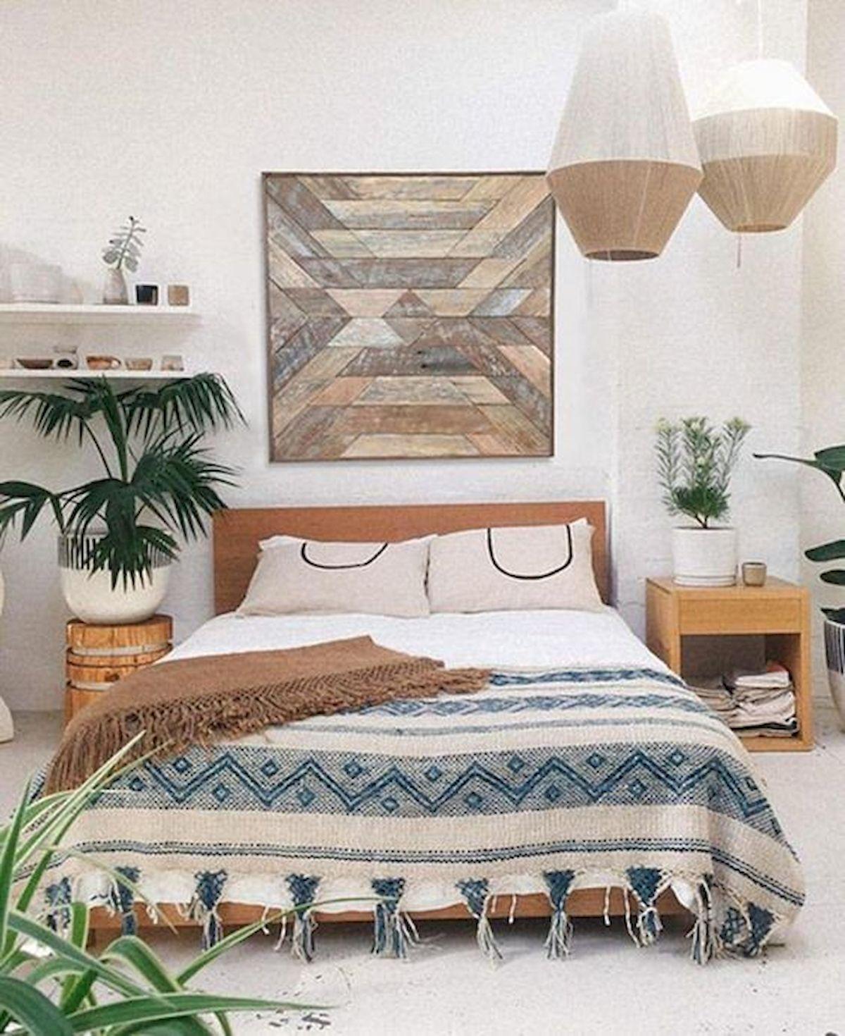 40 Amazing Farmhouse Boho Bedroom Design And Decor Ideas (14)
