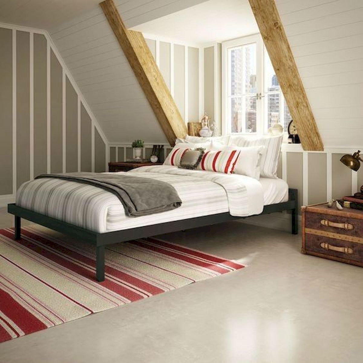 40 Awesome Attic Bedroom Design and Decorating Ideas (30)