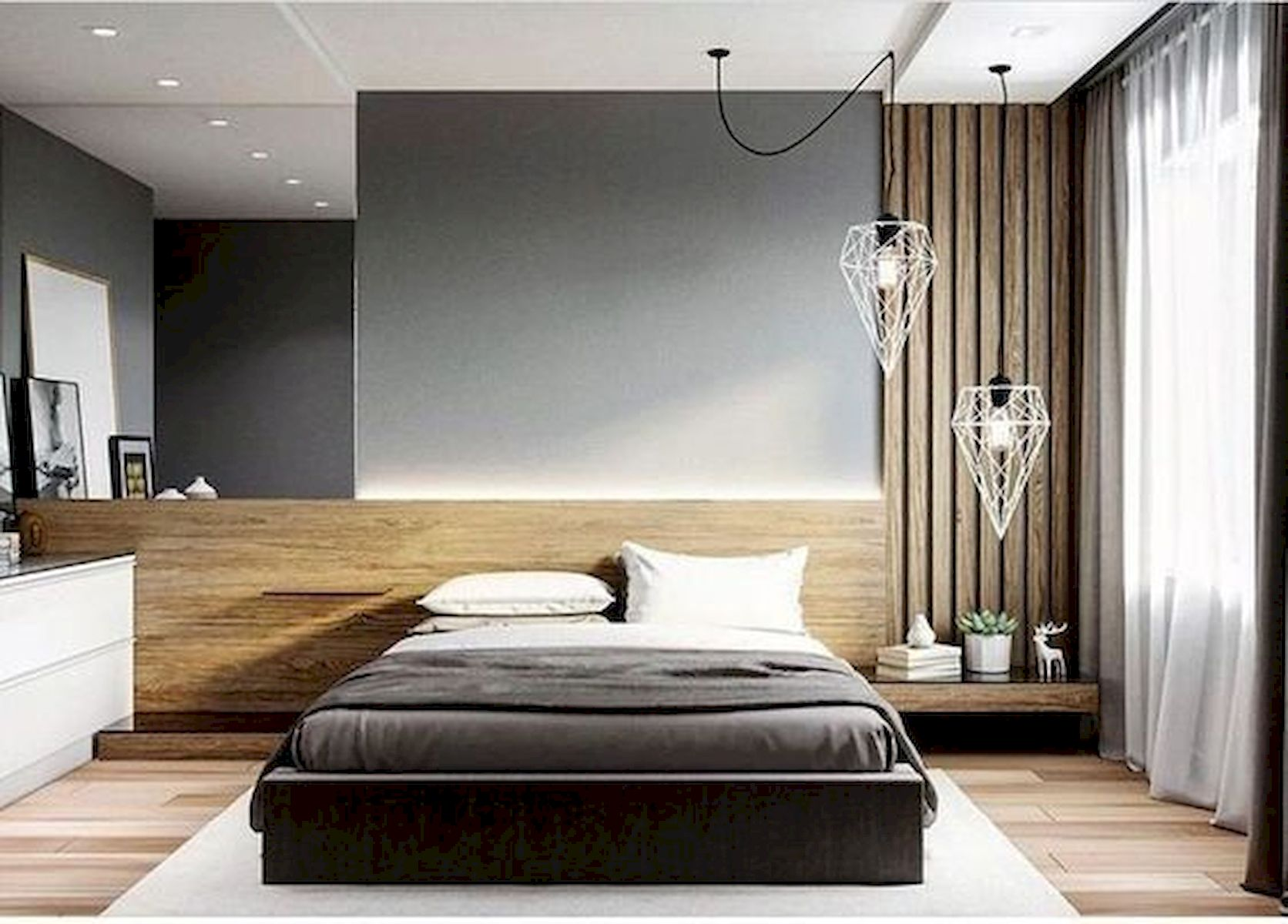 40 Incredible Modern Bedroom Design Ideas That Will Be Relax Place (32)