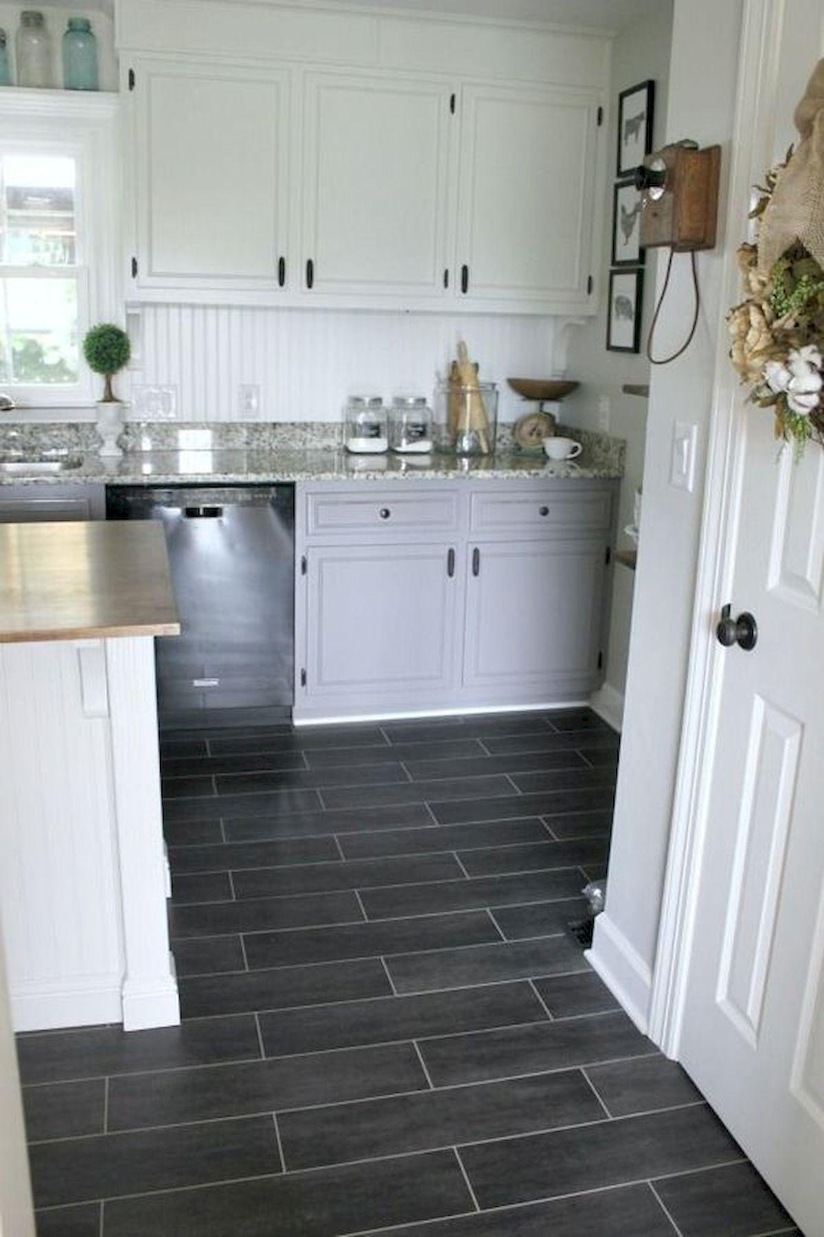 40 Best Tile Flooring Designs Ideas For Modern Kitchen (20)