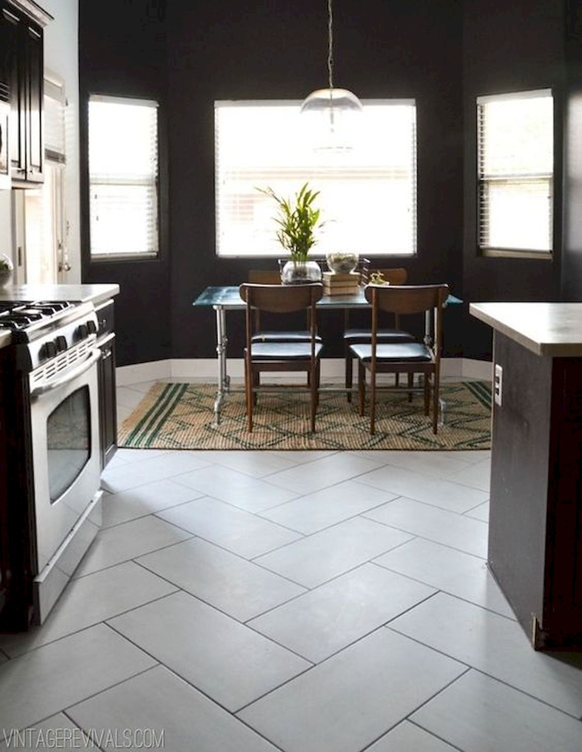 40 Best Tile Flooring Designs Ideas For Modern Kitchen (22)