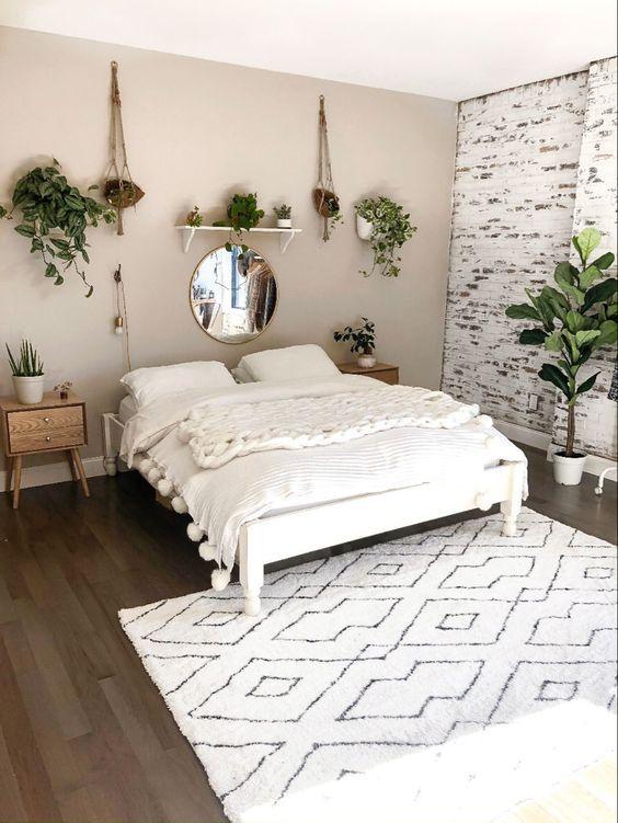 20 Best Boho Farmhouse Bedroom Decor Ideas (11)