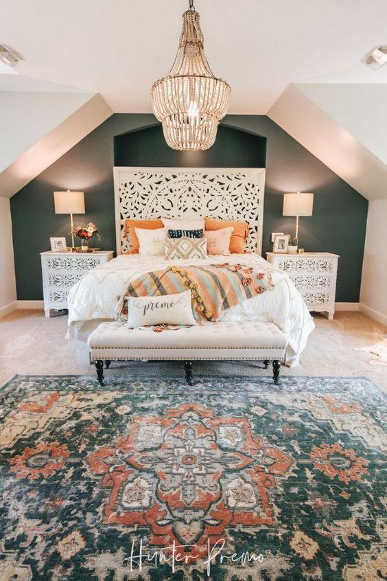 20 Best Boho Farmhouse Bedroom Decor Ideas (12)