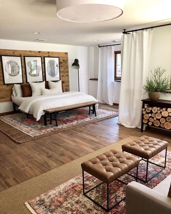 20 Best Boho Farmhouse Bedroom Decor Ideas (19)