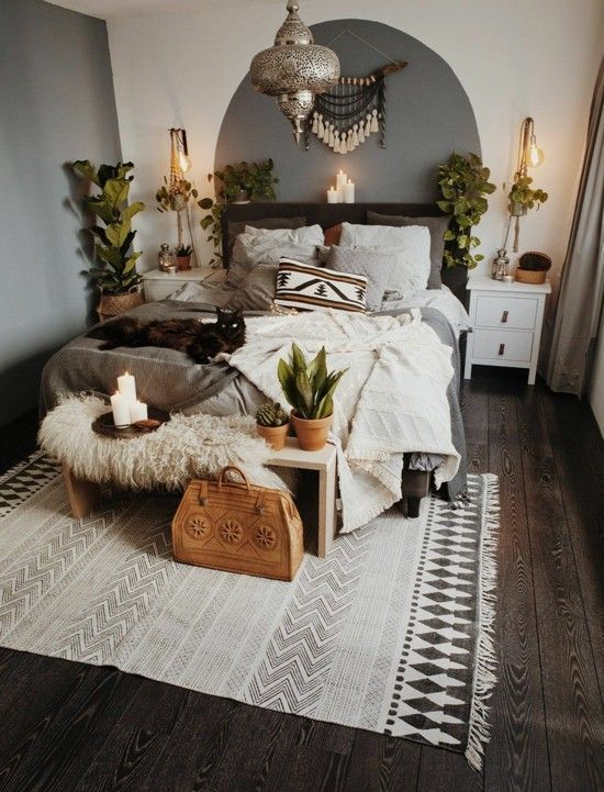 20 Best Boho Farmhouse Bedroom Decor Ideas (6)