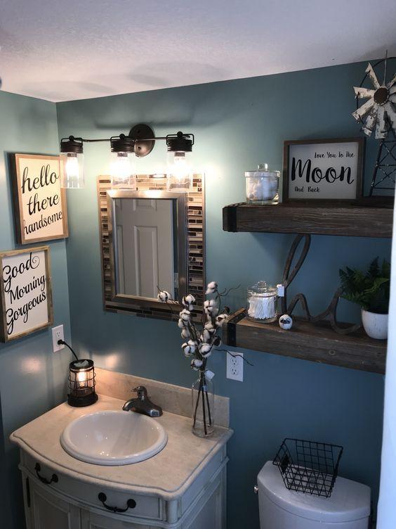 20 Best Farmhouse Bathroom Lighting Decor Ideas (12)