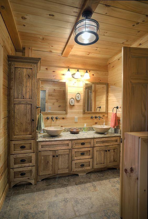 20 Best Farmhouse Bathroom Lighting Decor Ideas (13)