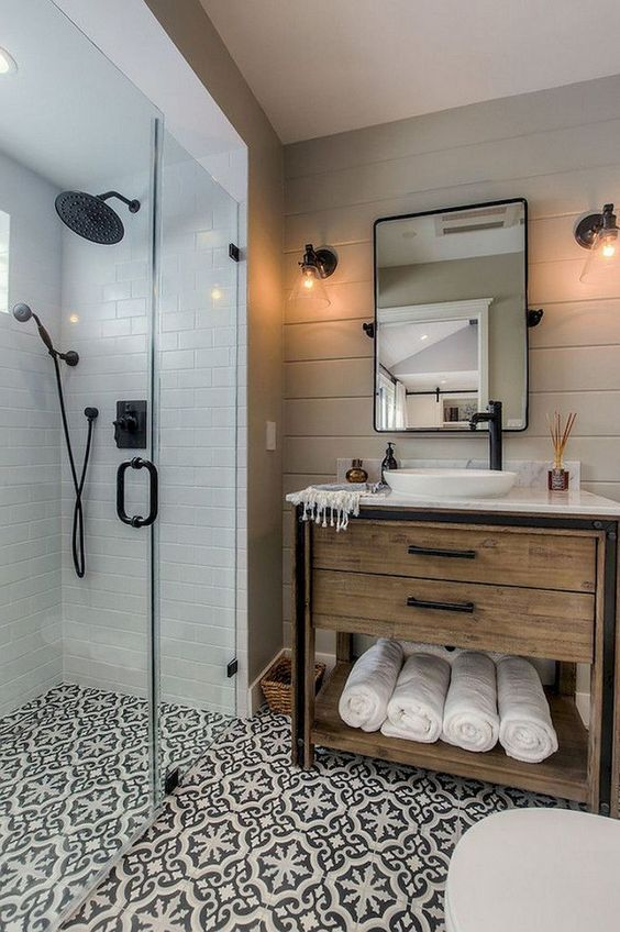 20 Best Farmhouse Bathroom Lighting Decor Ideas (15)