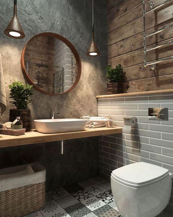 20 Best Farmhouse Bathroom Lighting Decor Ideas (18)
