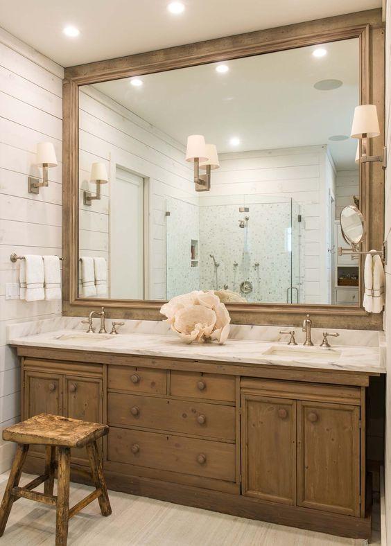20 Best Farmhouse Bathroom Lighting Decor Ideas (20)