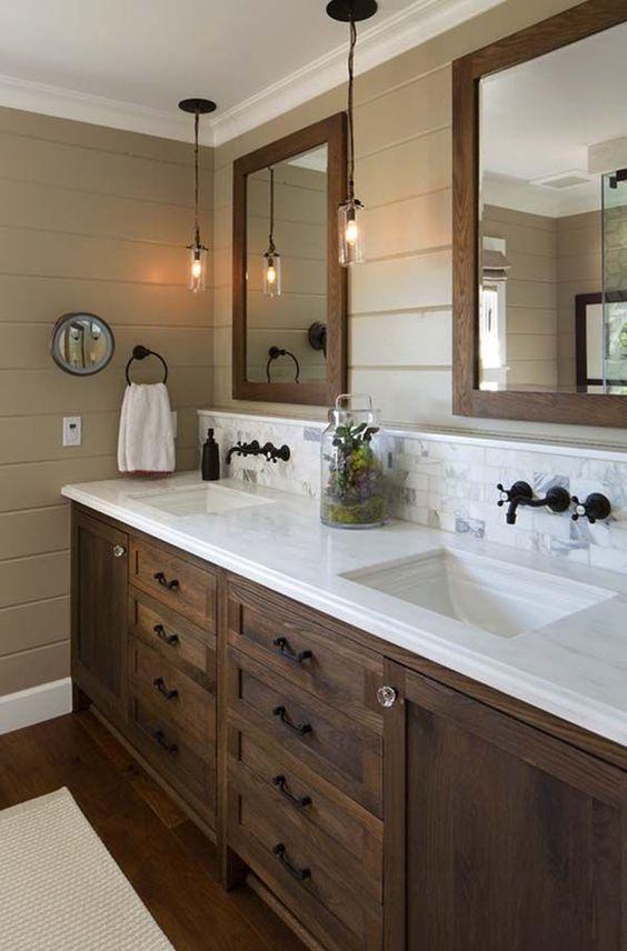 20 Best Farmhouse Bathroom Lighting Decor Ideas (3)