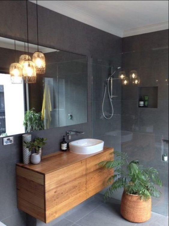 20 Best Farmhouse Bathroom Lighting Decor Ideas (8)