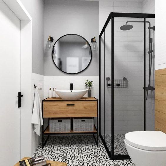 20 Best Farmhouse Bathroom Vanity Decor Ideas (16)