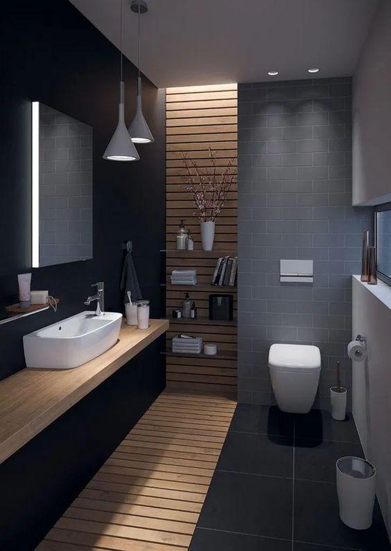 20 Best Farmhouse Bathroom Vanity Decor Ideas (7)