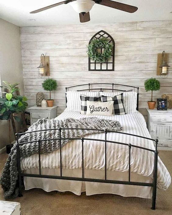 20 Best Farmhouse Bedroom Decor Ideas (11)