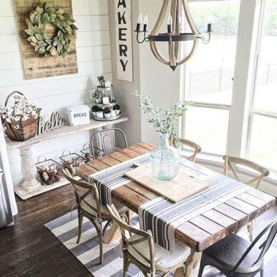 20 Best Farmhouse Dining Room Decor Ideas (16)