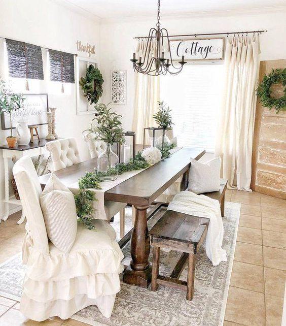 20 Best Farmhouse Dining Room Decor Ideas (19)