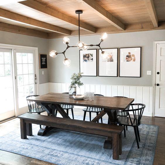 20 Best Farmhouse Dining Room Lighting Decor Ideas (14)