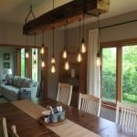 20 Best Farmhouse Dining Room Lighting Decor Ideas (15)