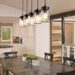 20 Best Farmhouse Dining Room Lighting Decor Ideas (18)