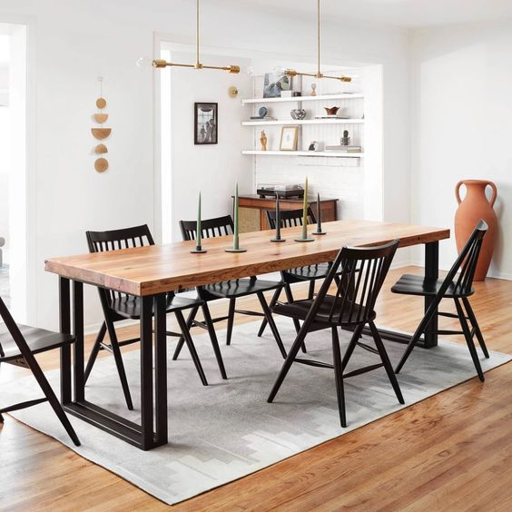 20 Best Farmhouse Dining Room Lighting Decor Ideas (2)