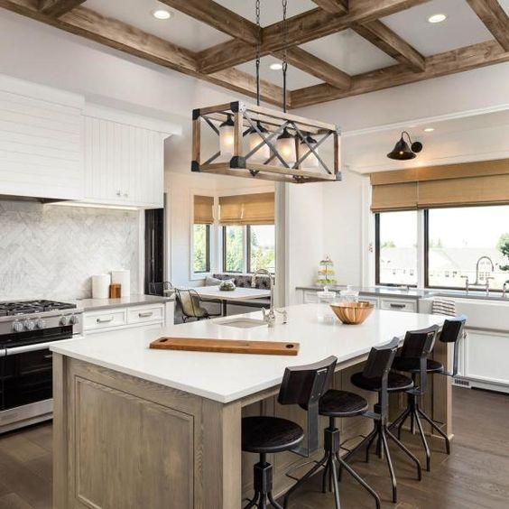 20 Best Farmhouse Dining Room Lighting Decor Ideas (3)