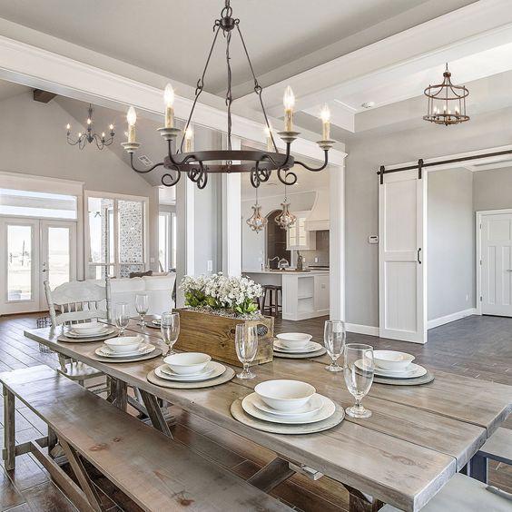 20 Best Farmhouse Dining Room Lighting Decor Ideas (4)
