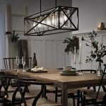 20 Best Farmhouse Dining Room Lighting Decor Ideas (6)