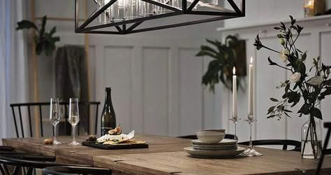 20 Best Farmhouse Dining Room Lighting Decor Ideas (6)