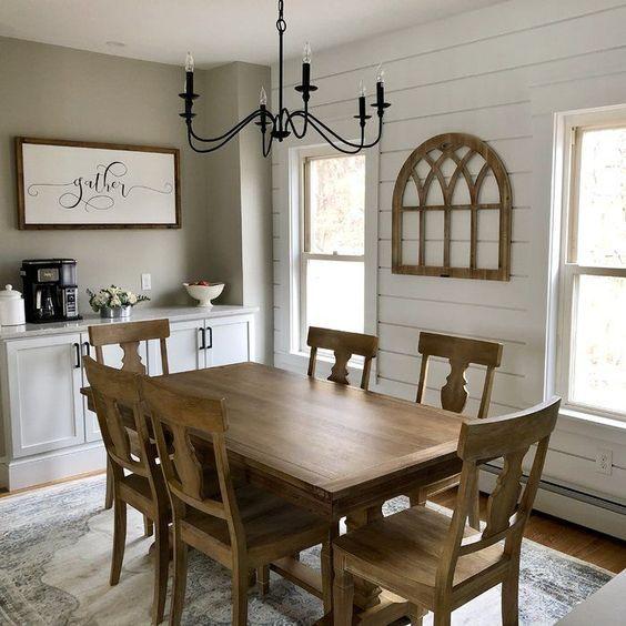 20 Best Farmhouse Dining Room Lighting Decor Ideas (9)