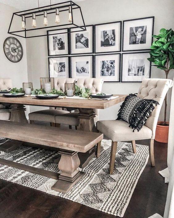 20 Best Farmhouse Dining Room Table Decor Ideas (1)