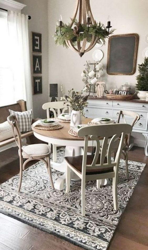 20 Best Farmhouse Dining Room Table Decor Ideas (12)