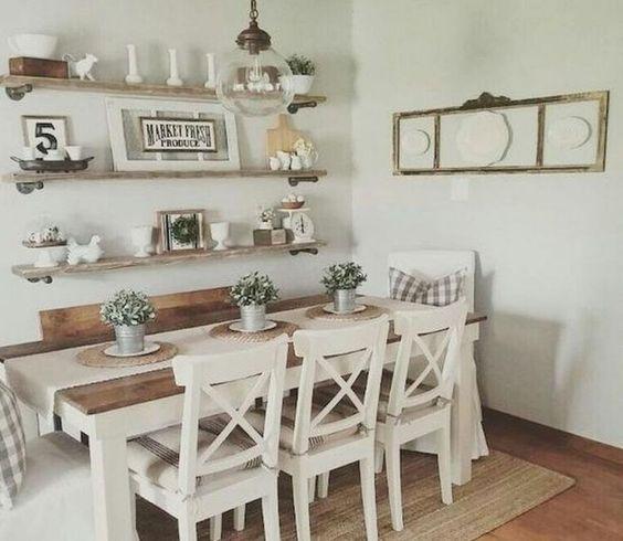 20 Best Farmhouse Dining Room Table Decor Ideas (18)