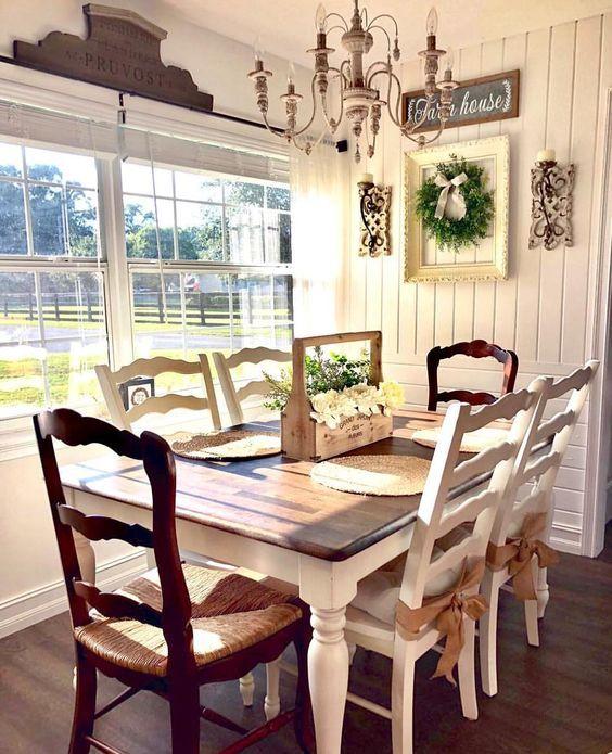 20 Best Farmhouse Dining Room Table Decor Ideas (7)