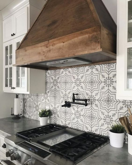 20 Best Farmhouse Kitchen Backsplash Decor Ideas (14)