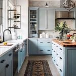 20 Best Farmhouse Kitchen Cabinets Decor Ideas (19)