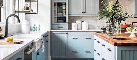 20 Best Farmhouse Kitchen Cabinets Decor Ideas (19)