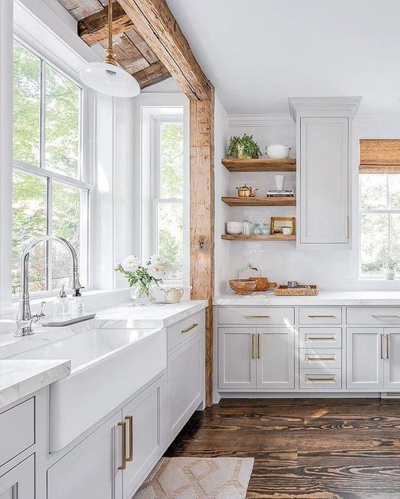 20 Best Farmhouse Kitchen Cabinets Decor Ideas (5)