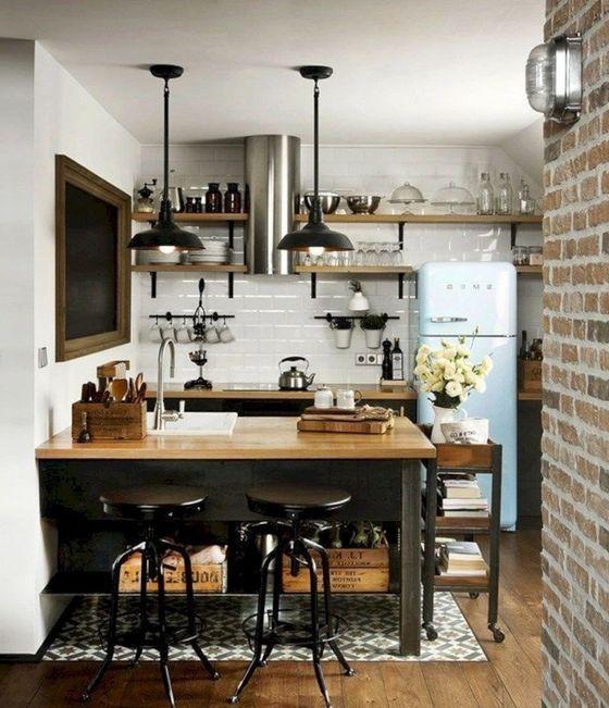 20 Best Farmhouse Kitchen Lighting Decor Ideas (20)