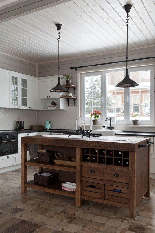 20 Best Farmhouse Kitchen Lighting Decor Ideas (8)