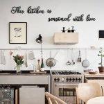 20 Best Farmhouse Kitchen Wall Decor Decor Ideas (14)