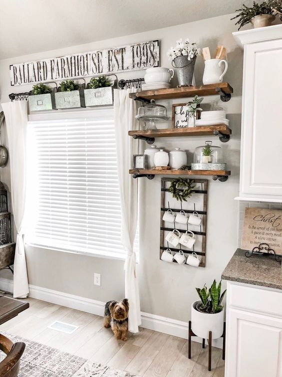 20 Best Farmhouse Kitchen Wall Decor Decor Ideas (16)