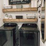 20 Best Farmhouse Laundry Room Decor Ideas (14)