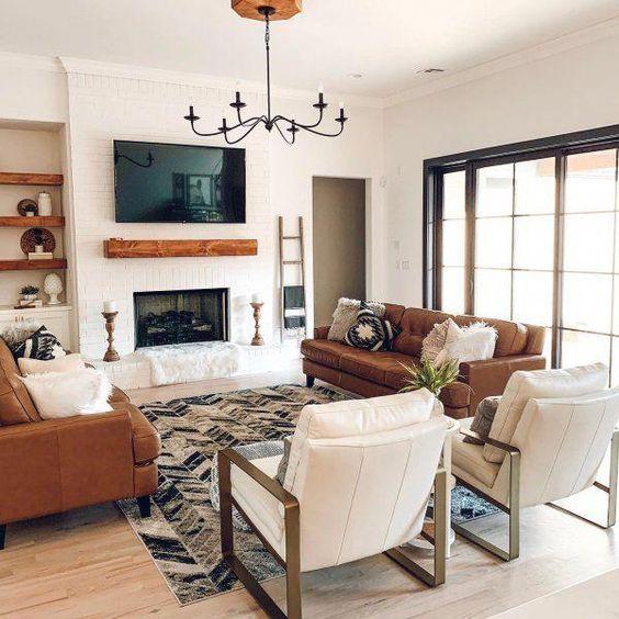 20 Best Farmhouse Living Room Decor Ideas (16)