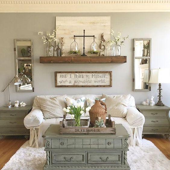 20 Best Farmhouse Living Room Decor Ideas (5)