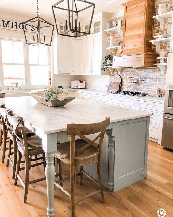 20 Best Modern Farmhouse Kitchens Decor Ideas (11)