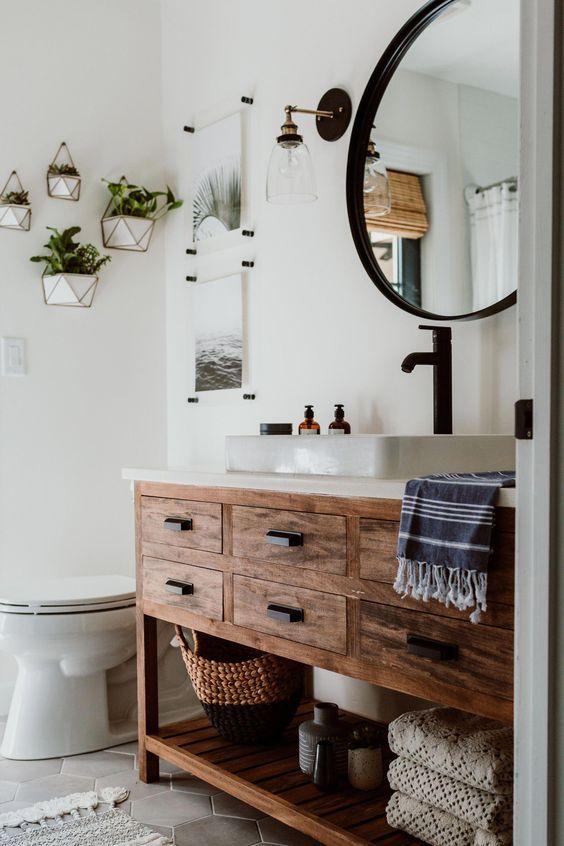20 Best Small Farmhouse Bathroom Decor Ideas (10)