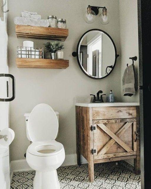 20 Best Small Farmhouse Bathroom Decor Ideas (11)